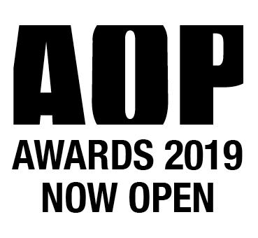 AOP Awards 2019 Now open Logo Black