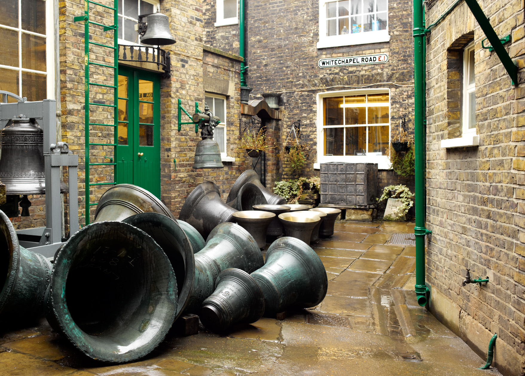 Whitechapel Bell Foundry courtyard CopyrightPeterDazeley credit photographer Peter Dazeley