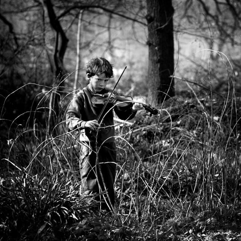 Oscar with Violin