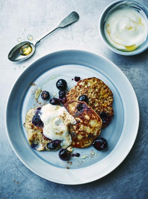 blueberry banana panckes