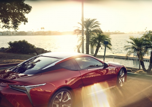 1424 Lexus LC500 Marina Parking