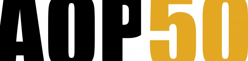 AOP50 Blk Gld logo