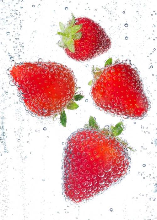 fizzy strawberries sRGB