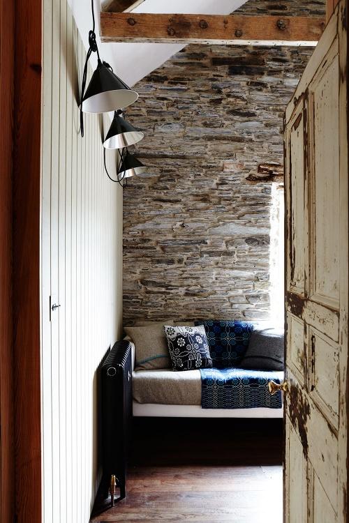 rustic stone farmhouse sofa