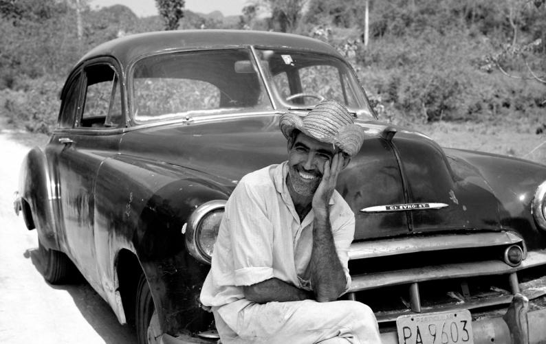Ricardo with his Chevrolet Cuba