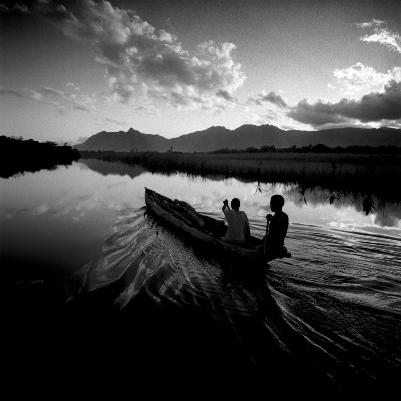 Two Men in a Canoe Madagascar